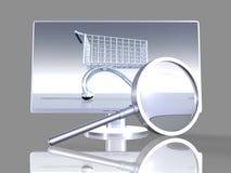 Het Onderzoek van Onlineshop Royalty-vrije Stock Afbeeldingen