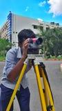 Het onderzoeken in burgerlijke bouwkunde royalty-vrije stock foto's