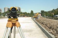 Het onderzoeken van apparatuur aan infrastructuur stock foto