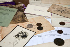 Het onderzoeken van de Familiegeschiedenis Royalty-vrije Stock Afbeeldingen