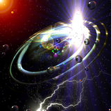 Het onderzoeken van de kosmische ruimte stock illustratie
