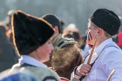 Het onderzoeken van de menigte onder de Zon Royalty-vrije Stock Fotografie