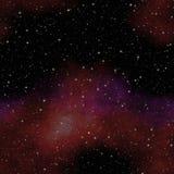 Het onderzoeken van diepe ruimte Het donkere hoogtepunt van de nachthemel van sterren Royalty-vrije Stock Foto's