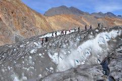 Het onderzoeken van Glaciar Stock Foto