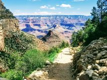 Het onderzoeken van Grand Canyon Arizona de V.S. royalty-vrije stock afbeelding