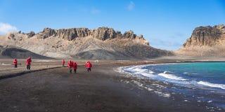 Het onderzoeken van het eiland van de Teleurstelling, Antarctica Royalty-vrije Stock Foto
