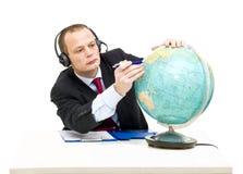 Het onderzoeken van internationale markten stock afbeeldingen