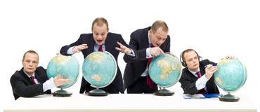Het onderzoeken van internationale markten Stock Afbeelding