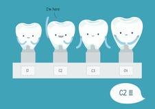 Het onderzoeken van tanden stock illustratie