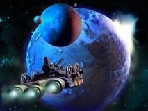 Het onderzoeken van verre planeten stock illustratie