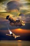 Het onderzoeken van verre planeten royalty-vrije illustratie