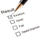 Het onderzoeksvragenlijst van de kwaliteit Stock Afbeelding