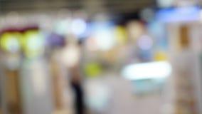 Het onduidelijke beeld of defocused beeld van opslag, het winkelen centrumconcept Stock Foto's
