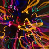 Het onduidelijke beeld licht patroon van de motie. Royalty-vrije Stock Fotografie