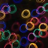 Het onduidelijke beeld licht patroon van de motie. Stock Foto's