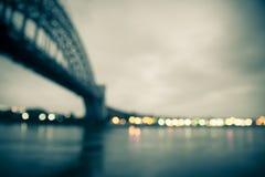 Het Onduidelijke beeld van bruglichten Royalty-vrije Stock Fotografie