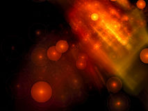 Het onduidelijke beeld van chaosbellen - abstract digitaal geproduceerd beeld Stock Illustratie