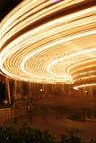 Het Onduidelijke beeld van de carrousel Stock Foto
