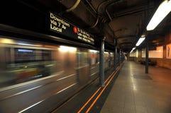 Het onduidelijke beeld van de de metromotie van New York Royalty-vrije Stock Foto