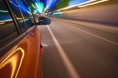 Het Onduidelijke beeld van de Motie van de auto Stock Fotografie