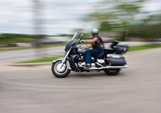Het onduidelijke beeld van de motorfiets Royalty-vrije Stock Afbeelding