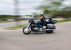 Het onduidelijke beeld van de motorfiets Stock Afbeeldingen