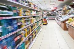Het onduidelijke beeld van de supermarkt Stock Foto's