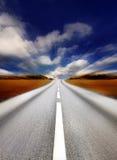 Het onduidelijke beeld van de weg/van de motie stock afbeeldingen