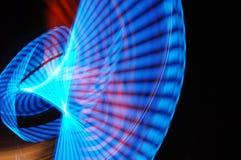 Het onduidelijke beeld van het neon Stock Foto