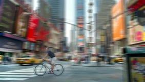 Het Onduidelijke beeld van het Times Square Stock Fotografie