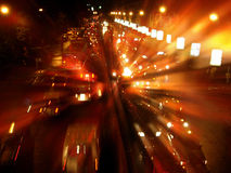 Het Onduidelijke beeld van het verkeerslicht royalty-vrije stock foto