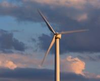 Het onduidelijke beeld van het windenergieblad Royalty-vrije Stock Fotografie