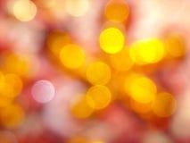 Het onduidelijke beeld van parklichten Stock Foto
