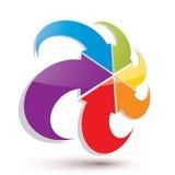 Het oneindige vector abstracte grafische symbool van lijnpijlen, Stock Afbeeldingen
