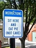 Het ongebruikelijke teken, eet pastei Royalty-vrije Stock Foto