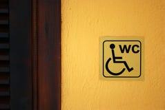 Het Etiket van WC Royalty-vrije Stock Afbeelding