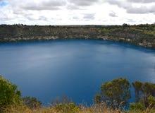 Het ongelooflijke Blauwe Meer bij MT Gambier Stock Fotografie