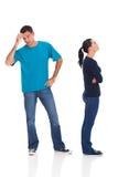 De vrouw van de echtgenoot het debatteren Stock Fotografie