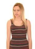 Het ongelukkige Meisje van de Tiener Stock Foto