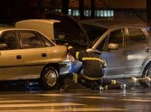 Het ongeval van de auto Royalty-vrije Stock Foto