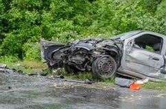 Het ongeval van de auto stock afbeelding