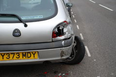 Het ongeval van de auto, Hastings Stock Fotografie