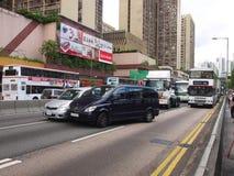 Het ongeval van de auto in Hongkong Royalty-vrije Stock Foto's