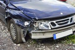 Het ongeval van de auto, verzekeringsconcept Stock Fotografie