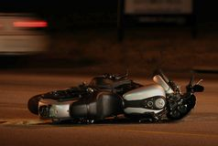 Het Ongeval van de motorfiets Stock Afbeeldingen