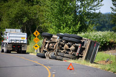 Het Ongeval van de vrachtwagen Royalty-vrije Stock Afbeeldingen