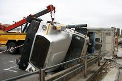 Het Ongeval van de vrachtwagen Stock Afbeelding
