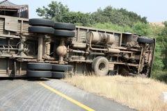 Het Ongeval van de vrachtwagen Stock Foto