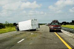 Het ongeval van de weg Stock Afbeeldingen