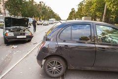 Het ongeval van de weg Royalty-vrije Stock Foto's